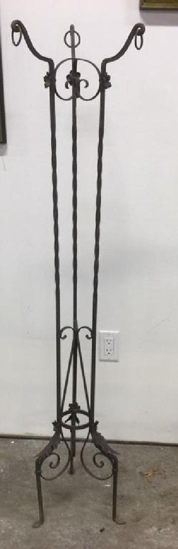 Curled Iron Tall Plant Stand Vintage - 3