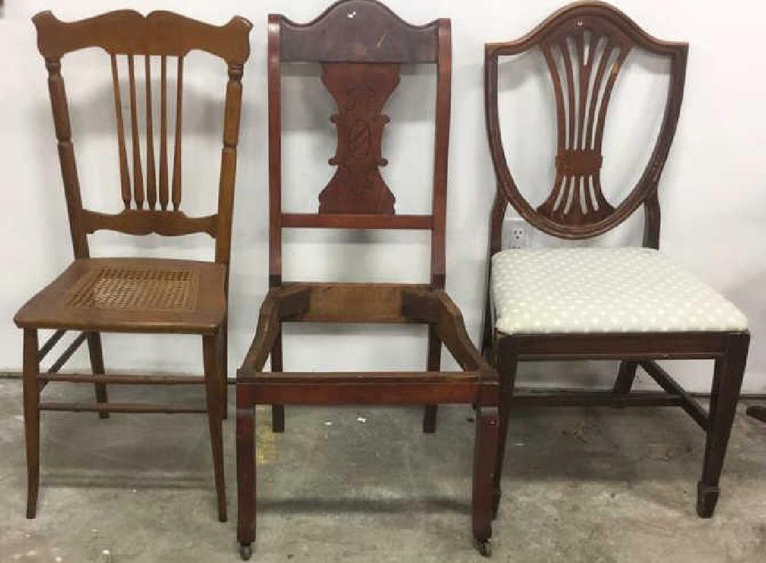Group 3 Wood Vintage Side Chairs