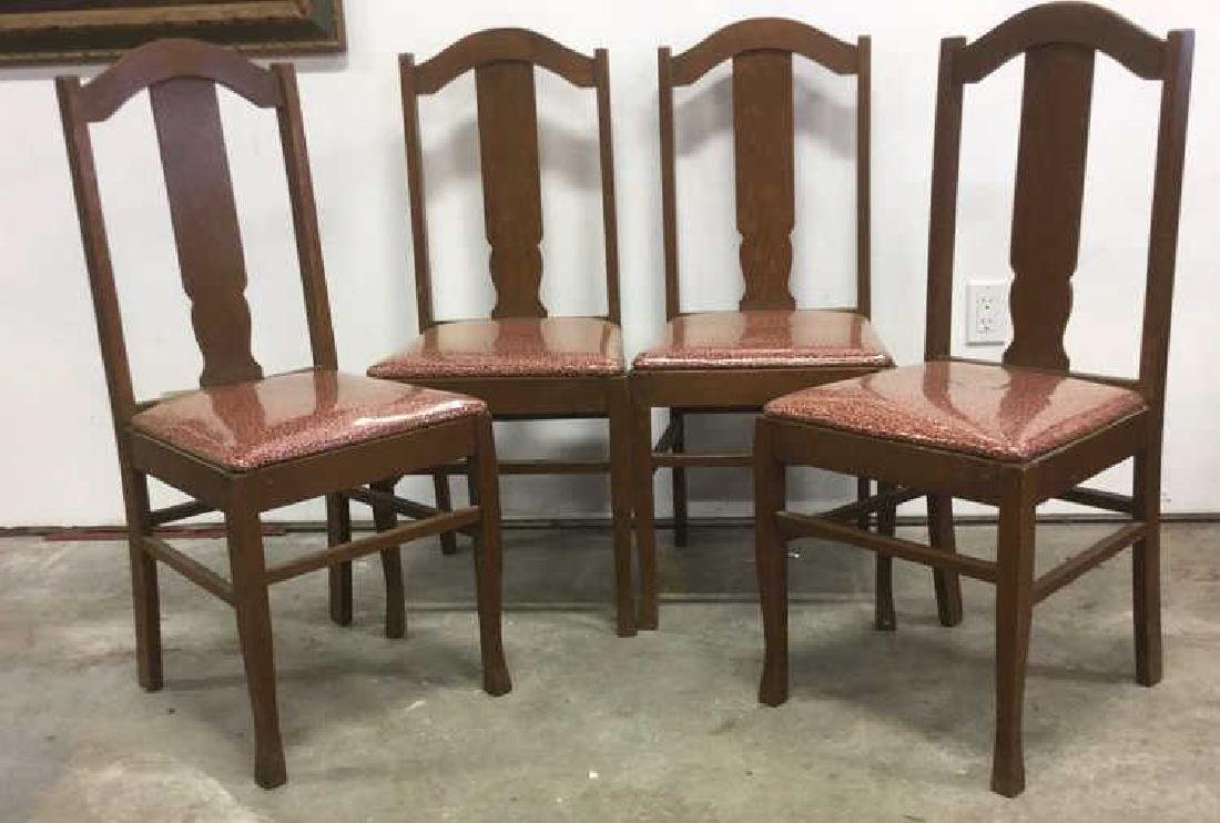 Set 4 Mission Oak Stickley Style Side Chairs - 2