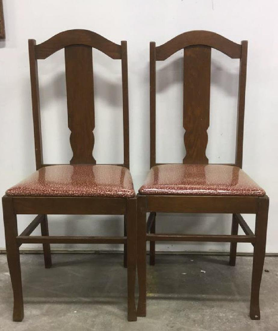 Set 4 Mission Oak Stickley Style Side Chairs - 3