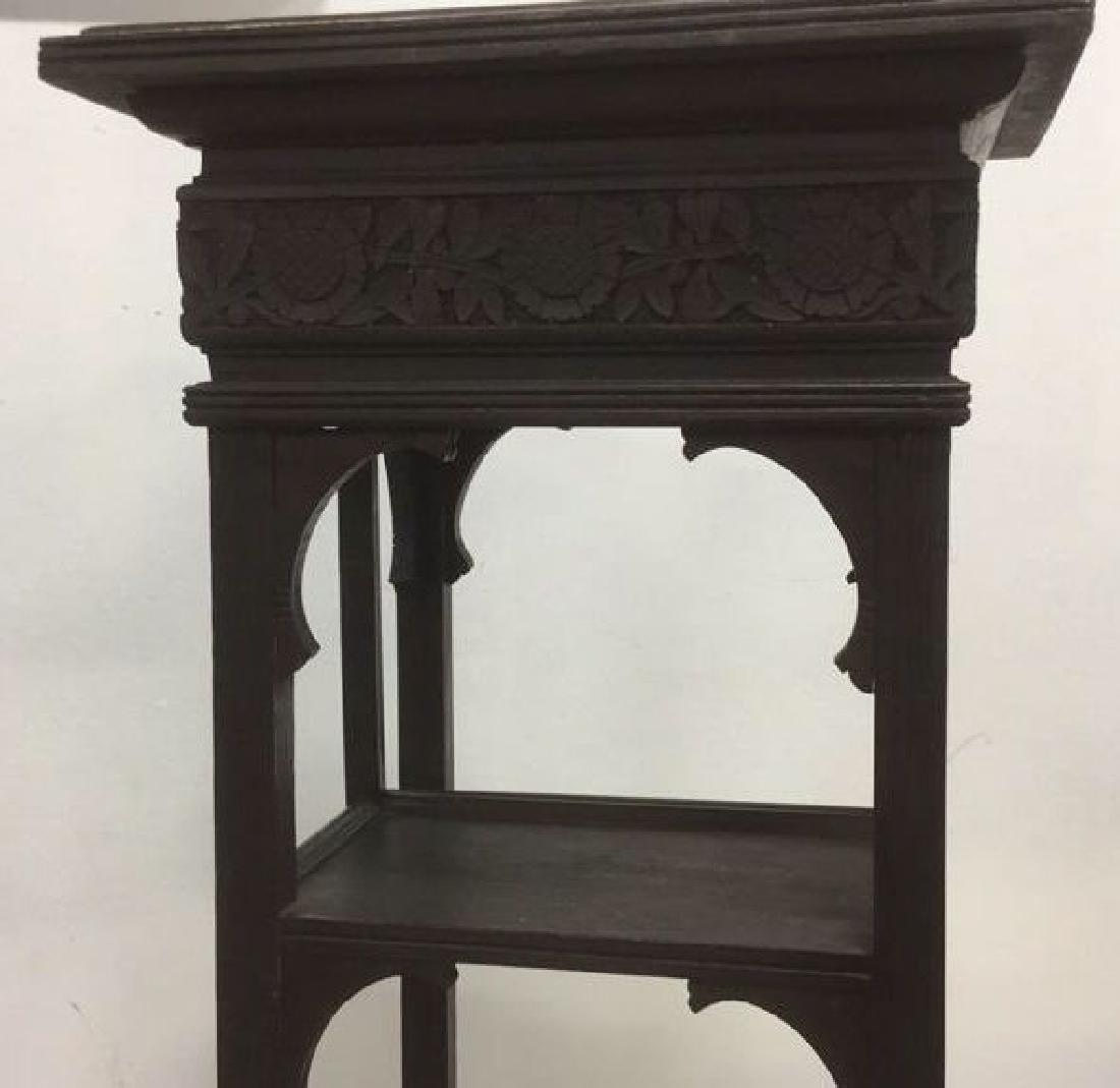 Vintage Antique Carved Arts and Crafts Pedestal - 5