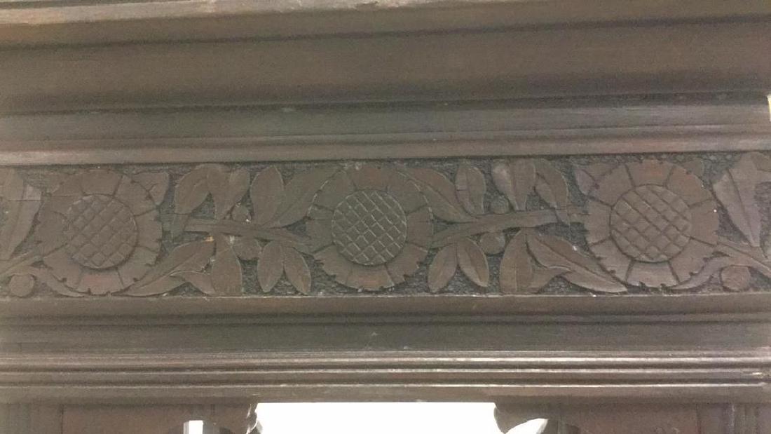 Vintage Antique Carved Arts and Crafts Pedestal - 6