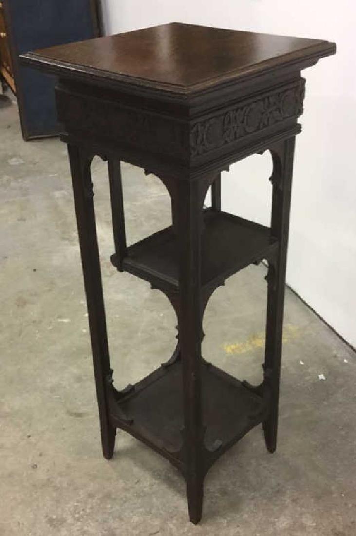 Vintage Antique Carved Arts and Crafts Pedestal - 9