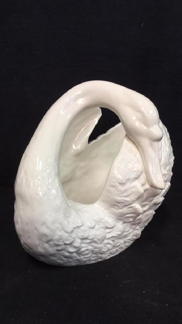 American Ceramics Swan Figural Centerpiece - 2