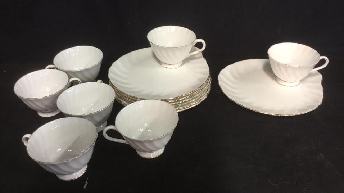 Set 15 Tuscan English China Teacups W Saucer Plate