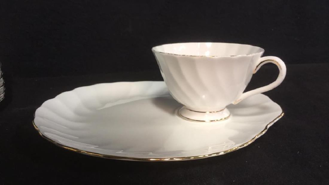 Set 15 Tuscan English China Teacups W Saucer Plate - 4