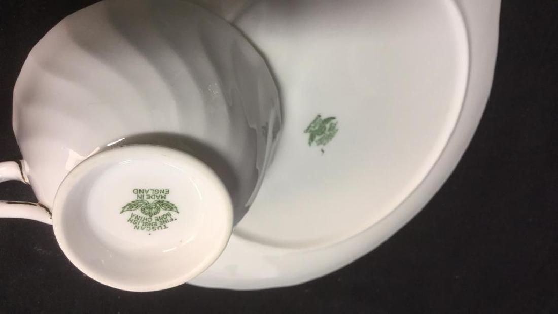 Set 15 Tuscan English China Teacups W Saucer Plate - 5