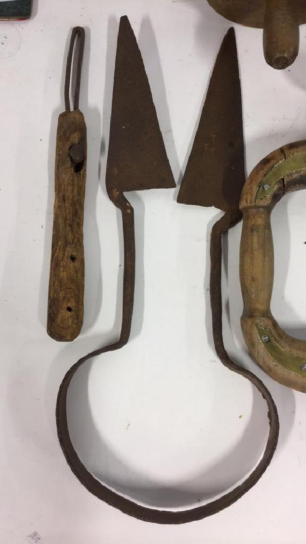 Lot 15 Assorted Wood and Metal Tools, Vintage - 6