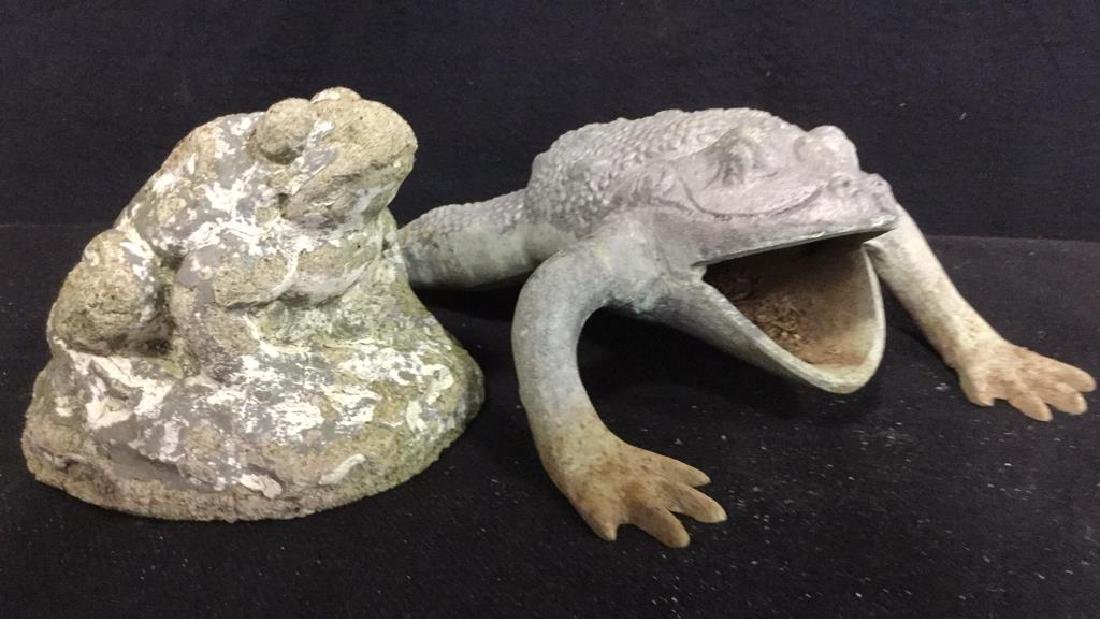 Pair Frog Figural Garden Statues - 2