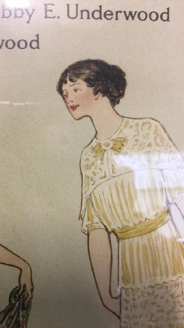 Vintage Style Fashion Illustration Advert - 5