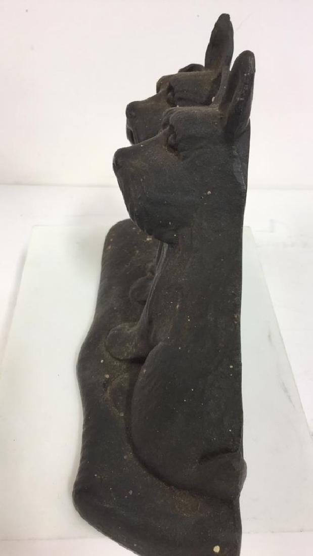 Dog Figural Cast Iron Doorstop - 4