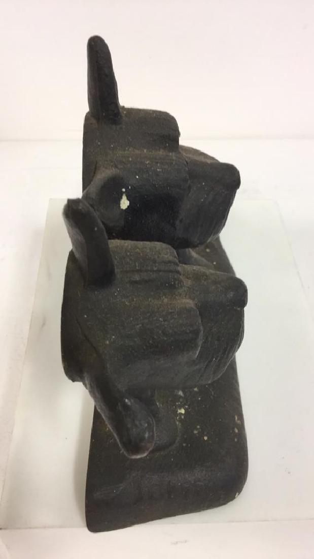 Dog Figural Cast Iron Doorstop - 5