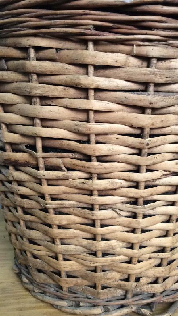 VIntage Whicker Basket Wrapped Jug - 2