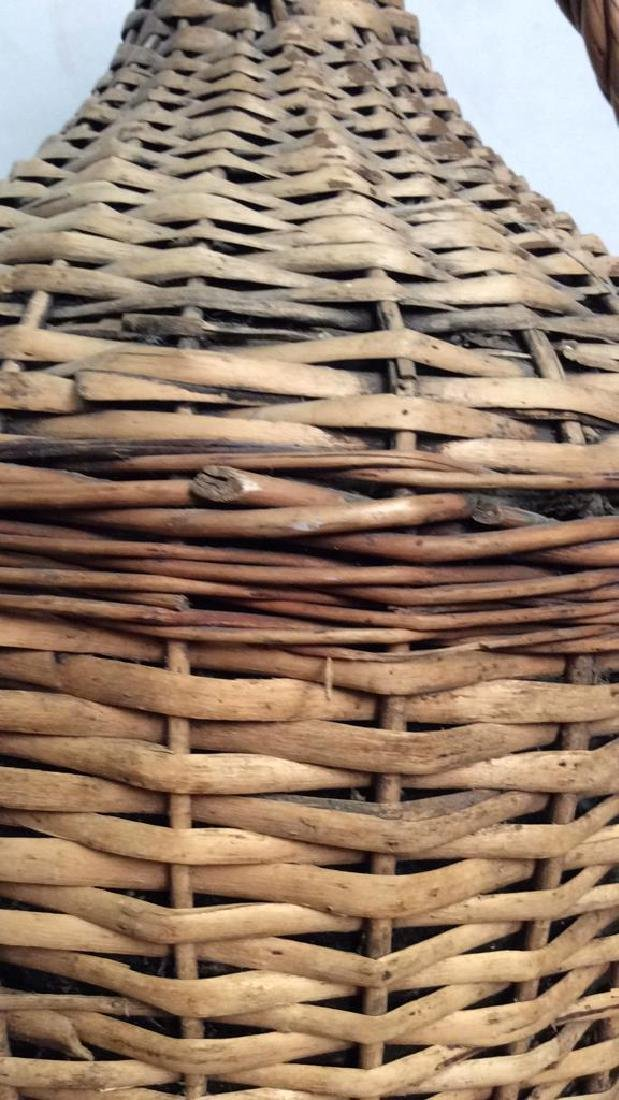 VIntage Whicker Basket Wrapped Jug - 3