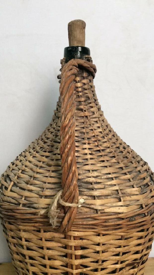 VIntage Whicker Basket Wrapped Jug - 7