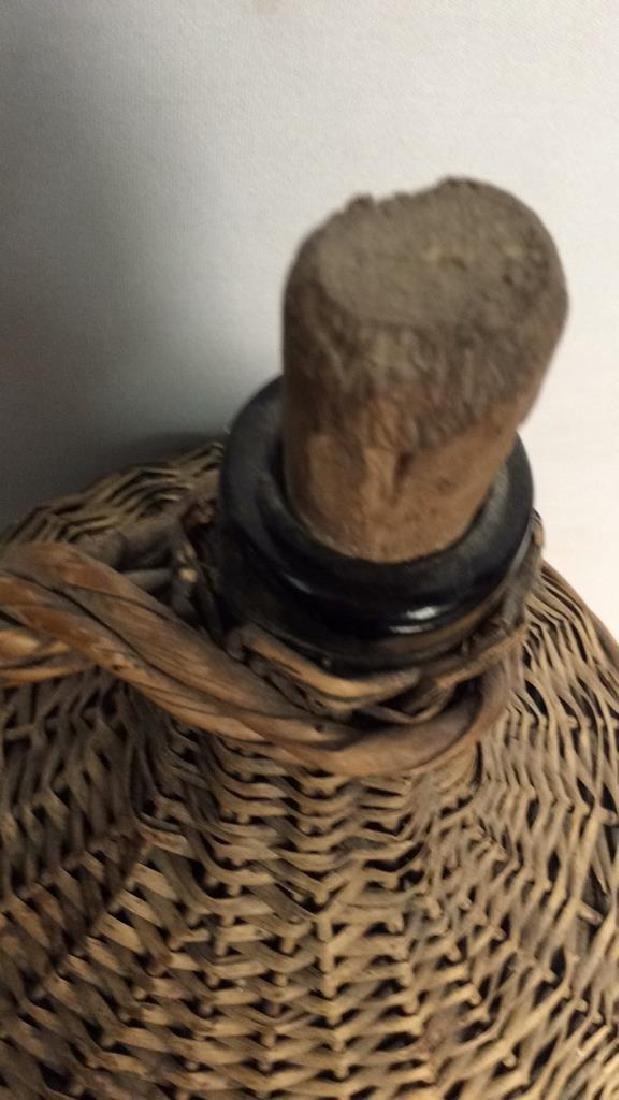 VIntage Whicker Basket Wrapped Jug - 9