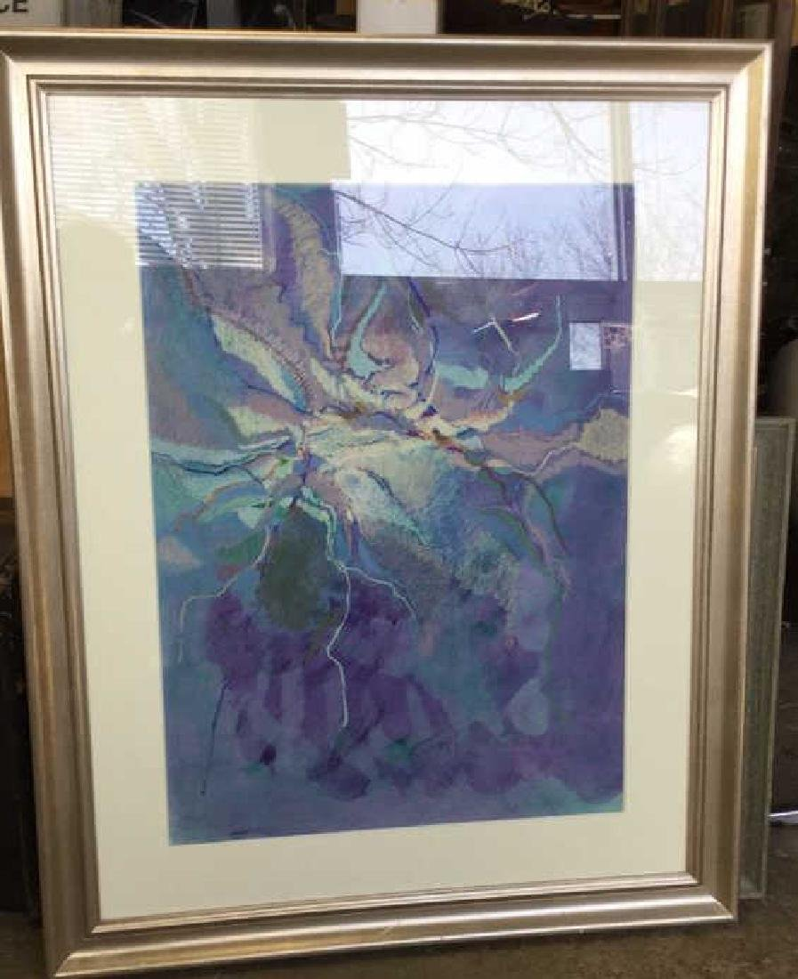 Signed Abstract Watercolor Framed Matted, 1975 - 2