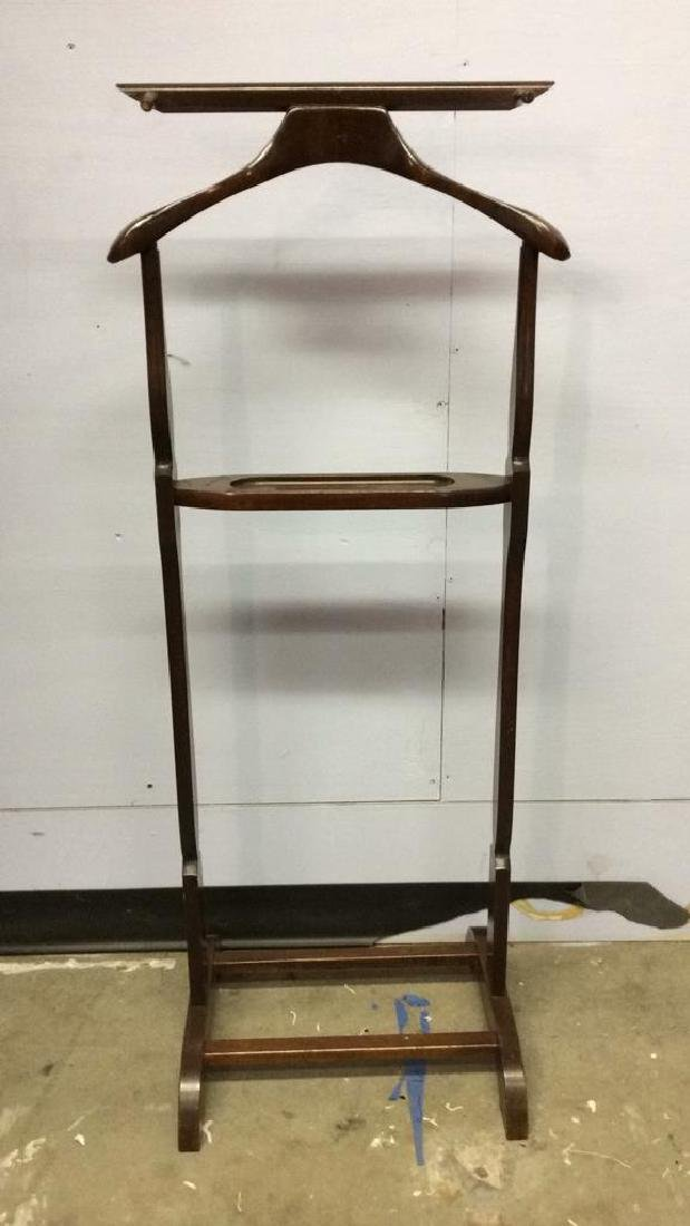 THE SETWELL Carved Wooden Valet Stand