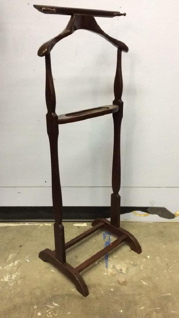 THE SETWELL Carved Wooden Valet Stand - 2