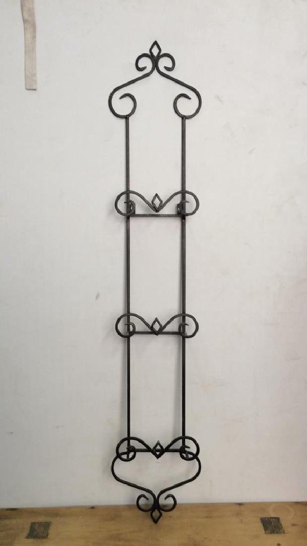 Lot 3 Black Toned Metal Scrollwork Wall Hangings - 5