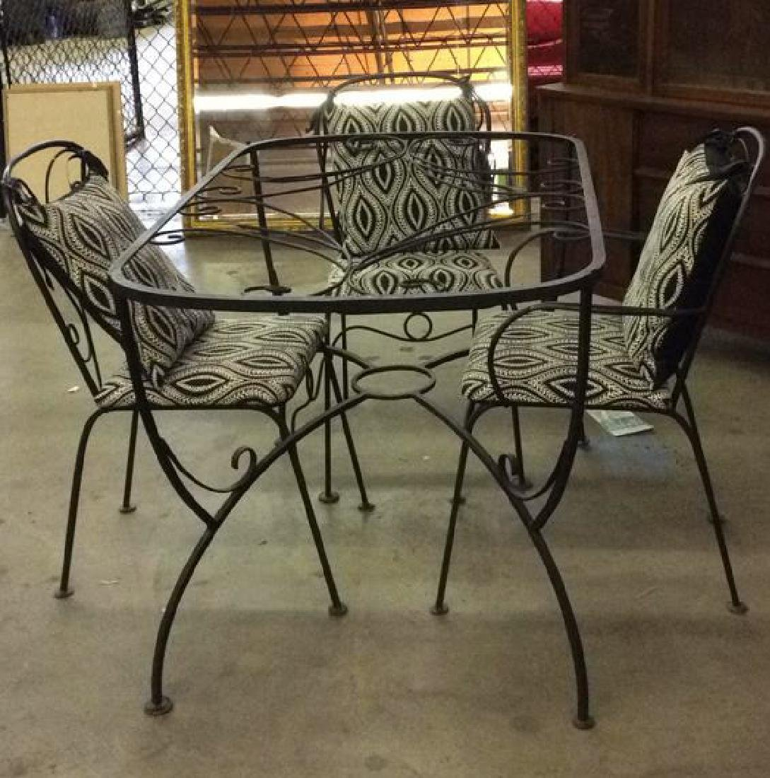 Set 5 Metal Outdoor Table & Chairs