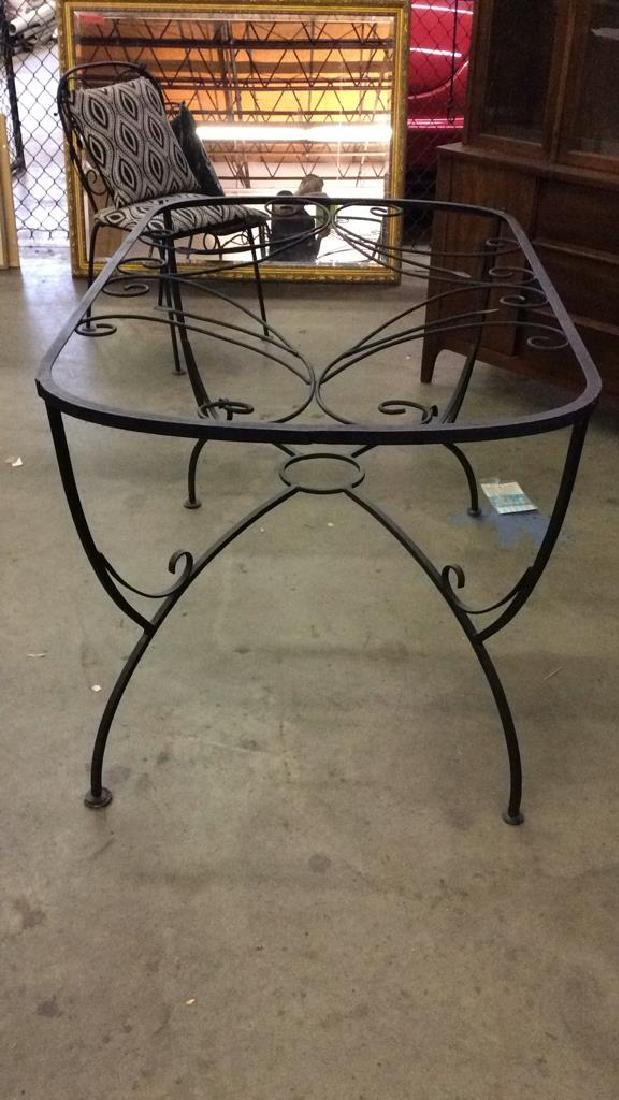 Set 5 Metal Outdoor Table & Chairs - 6