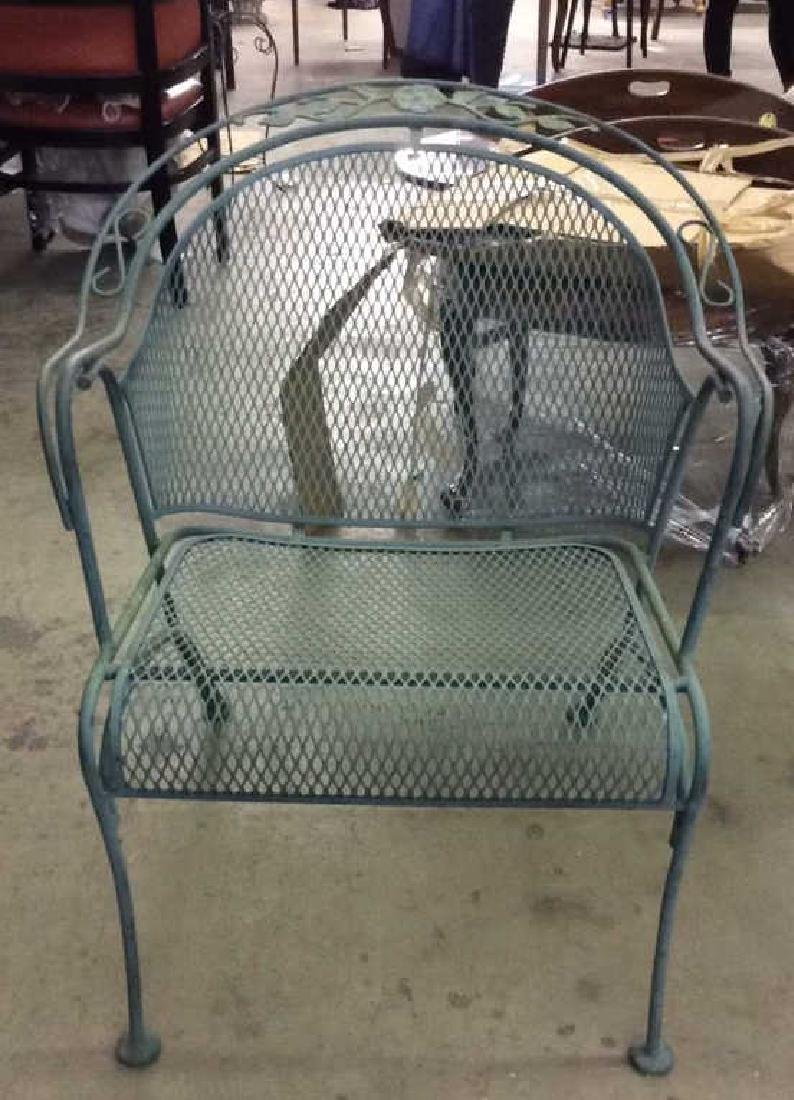 VIntage Set 6 Outdoor Metal Table & Chair Set - 2