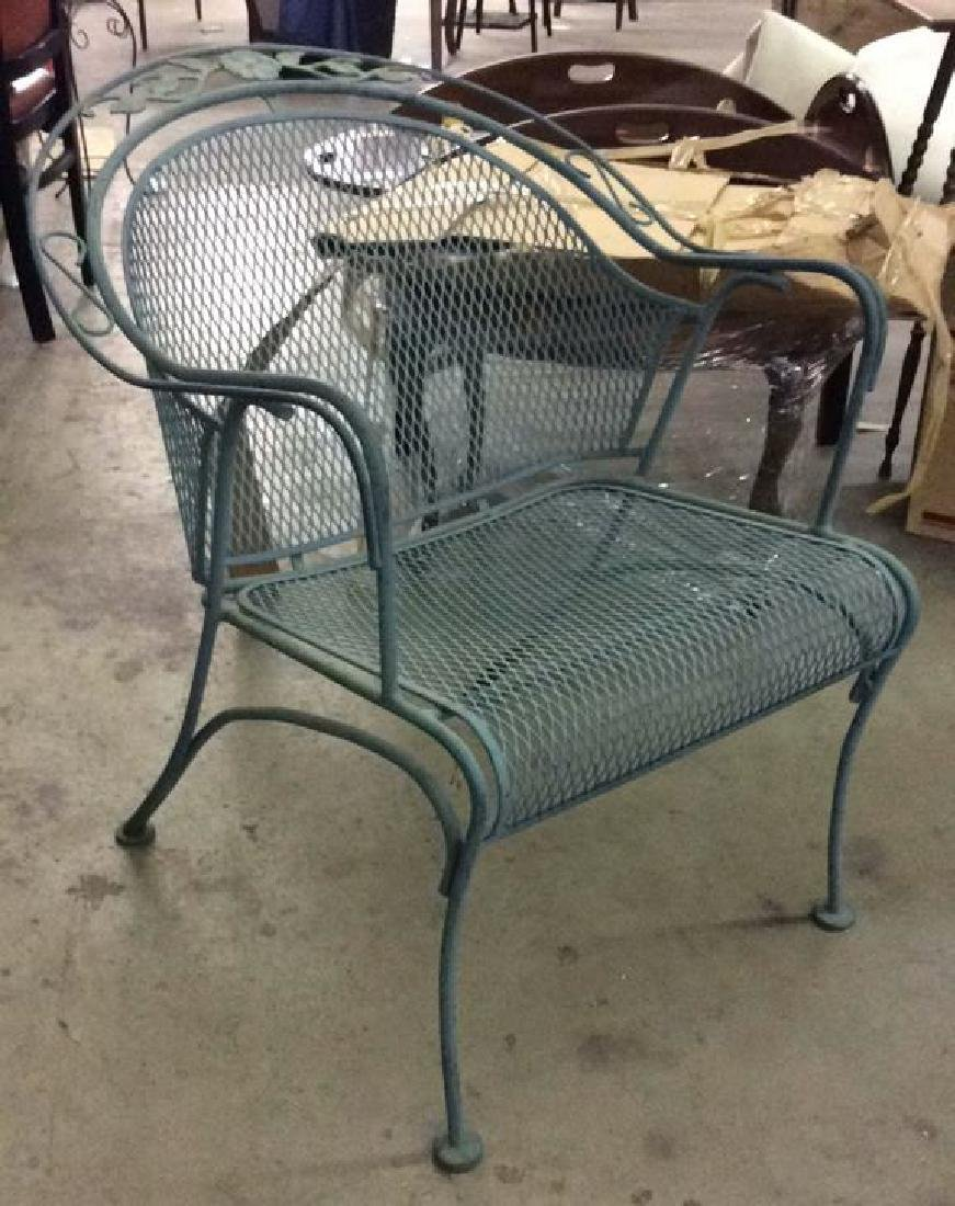 VIntage Set 6 Outdoor Metal Table & Chair Set - 3