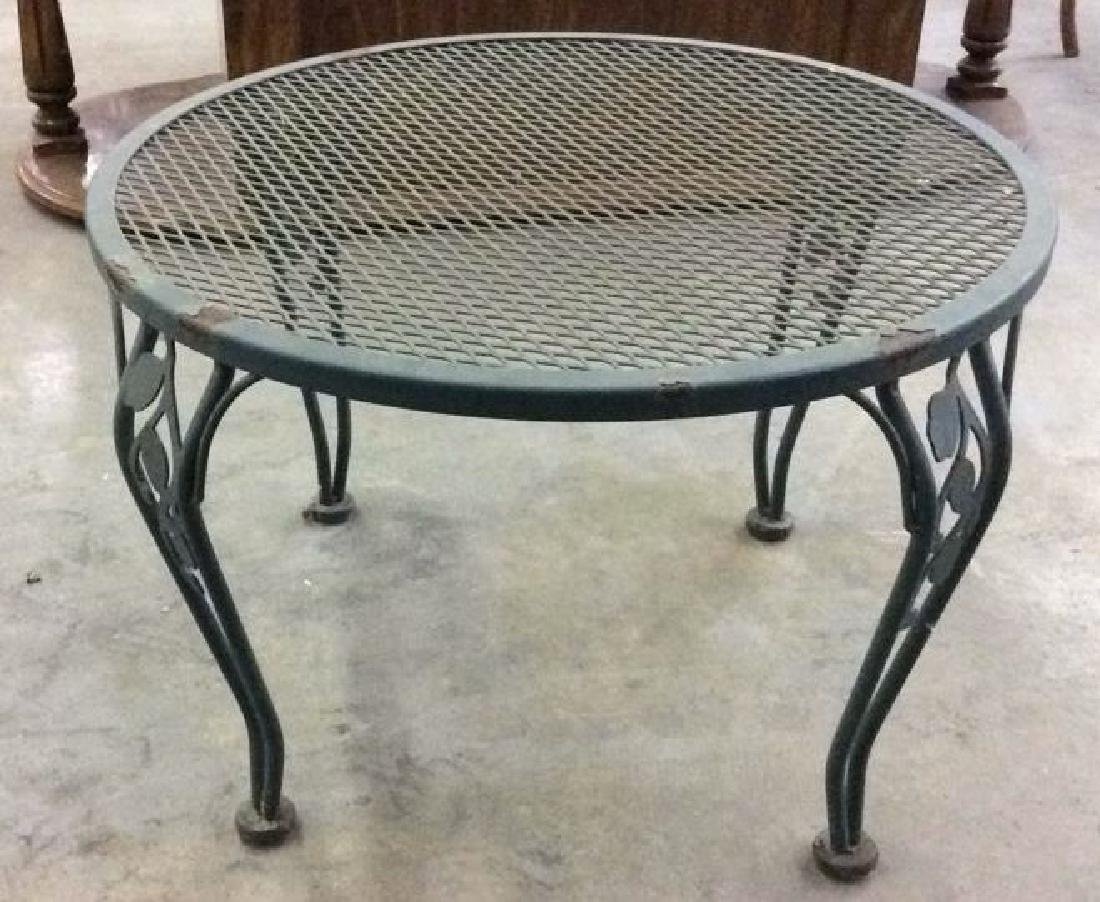 VIntage Set 6 Outdoor Metal Table & Chair Set - 6