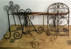Assorted Metal Scrolled DecorativAccessories