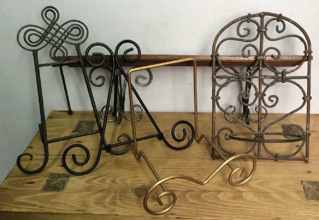 Lot 7 Assorted Metal Scrolled DecorativAccessories