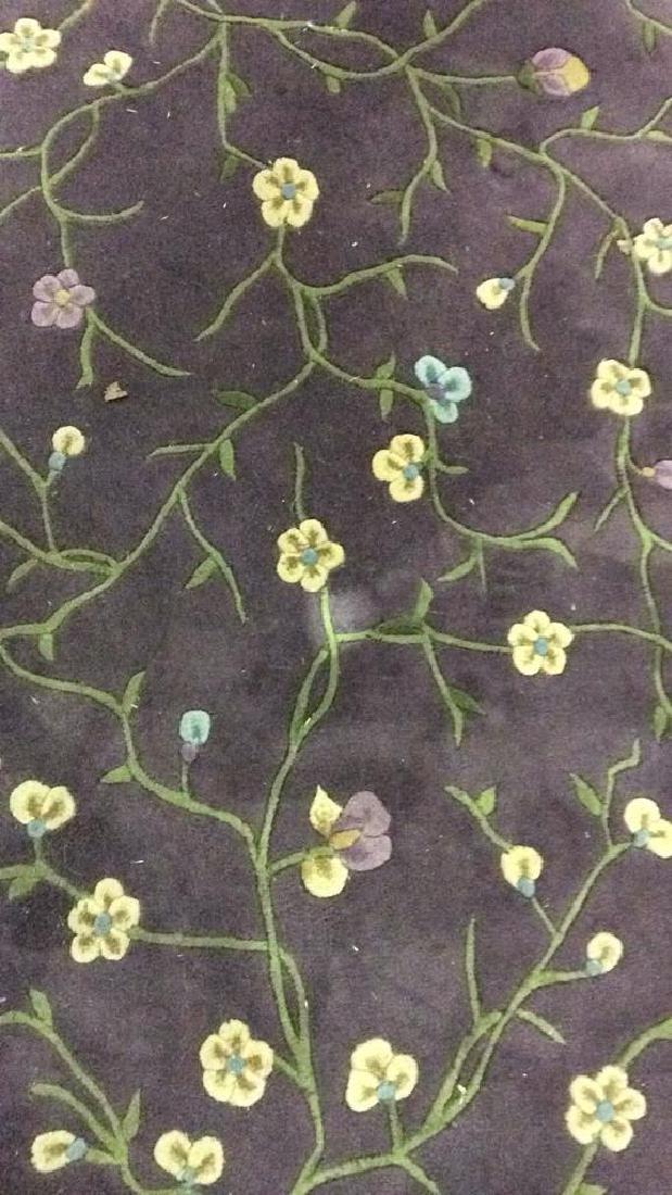 Circular Floral Detailed Wool Rug - 5