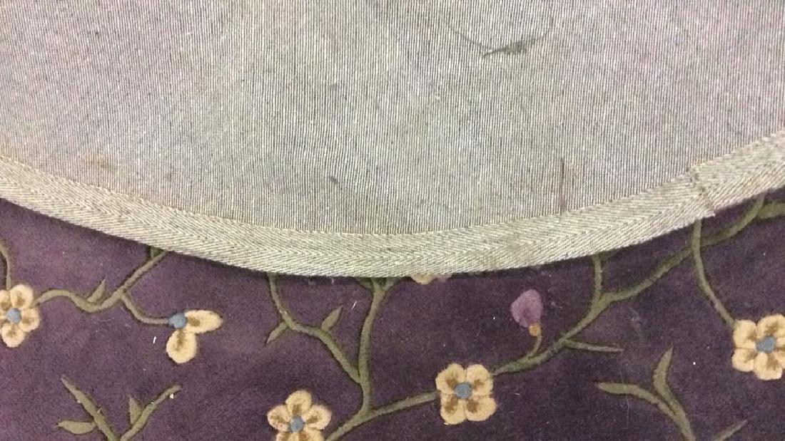 Circular Floral Detailed Wool Rug - 6