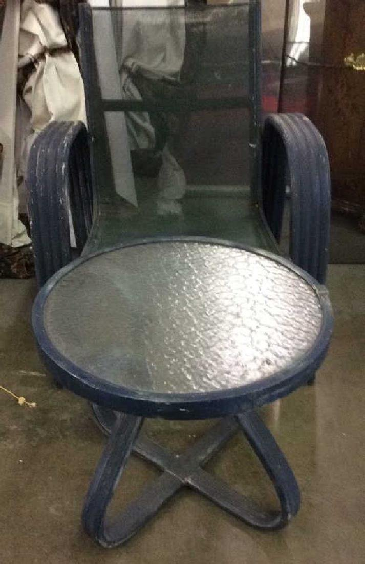 Vintage Outdoor Patio Chair & Round Table