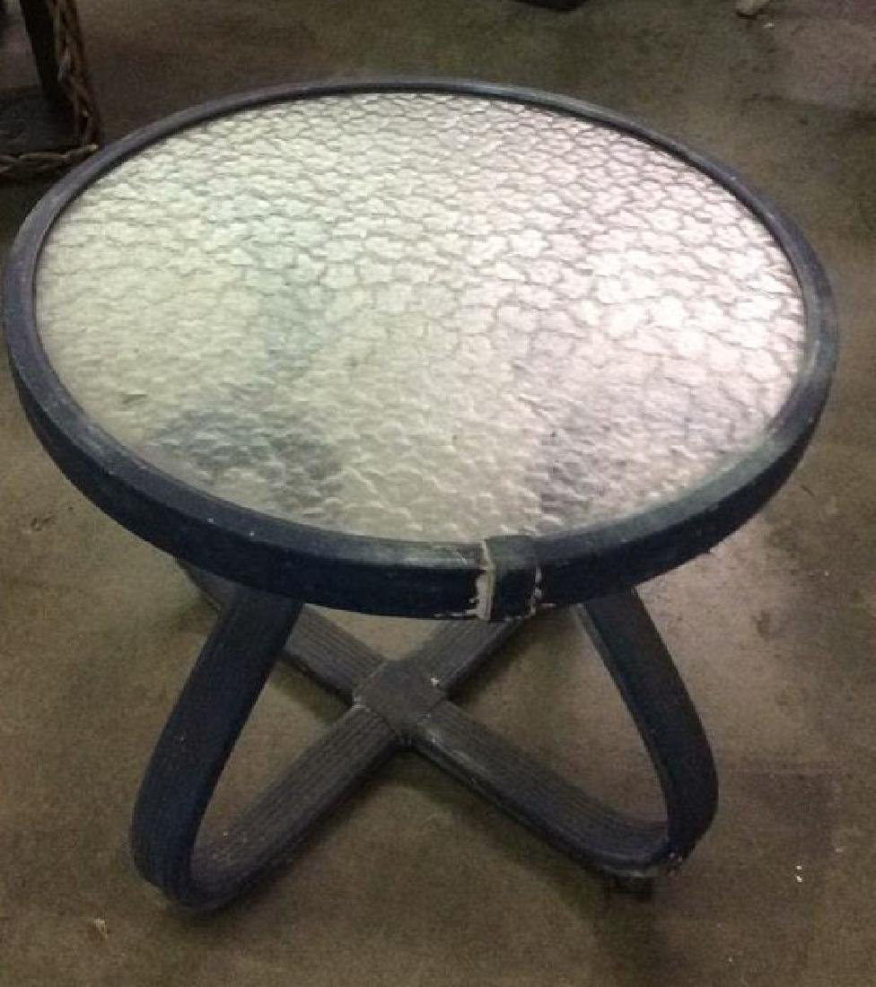 Vintage Outdoor Patio Chair & Round Table - 2