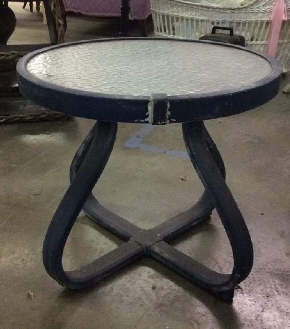 Vintage Outdoor Patio Chair & Round Table - 3