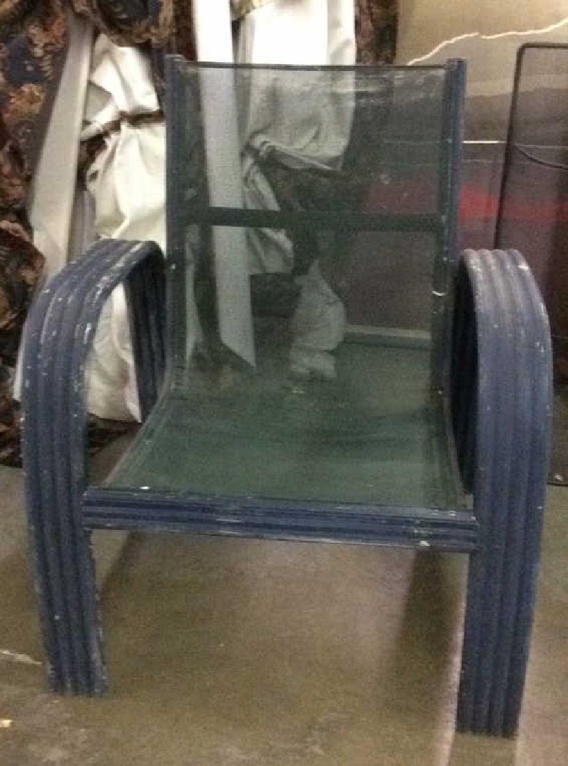 Vintage Outdoor Patio Chair & Round Table - 4