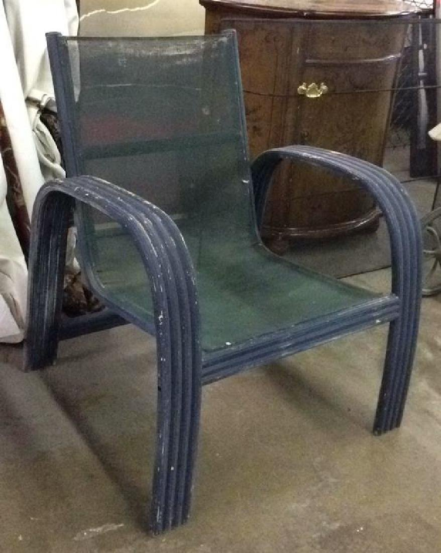 Vintage Outdoor Patio Chair & Round Table - 5