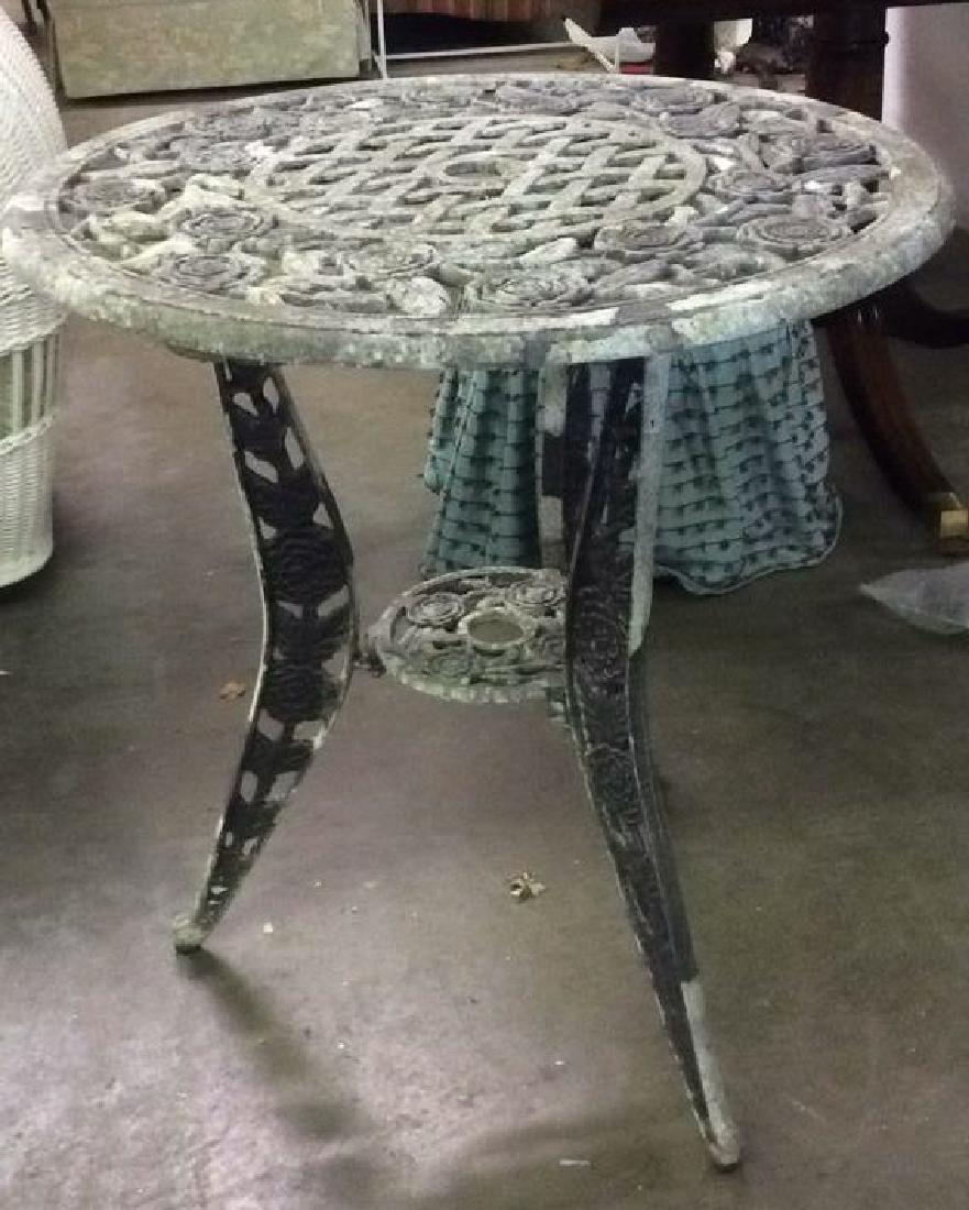 Lot 3 Vintage Metal Iron Patio Furniture - 5