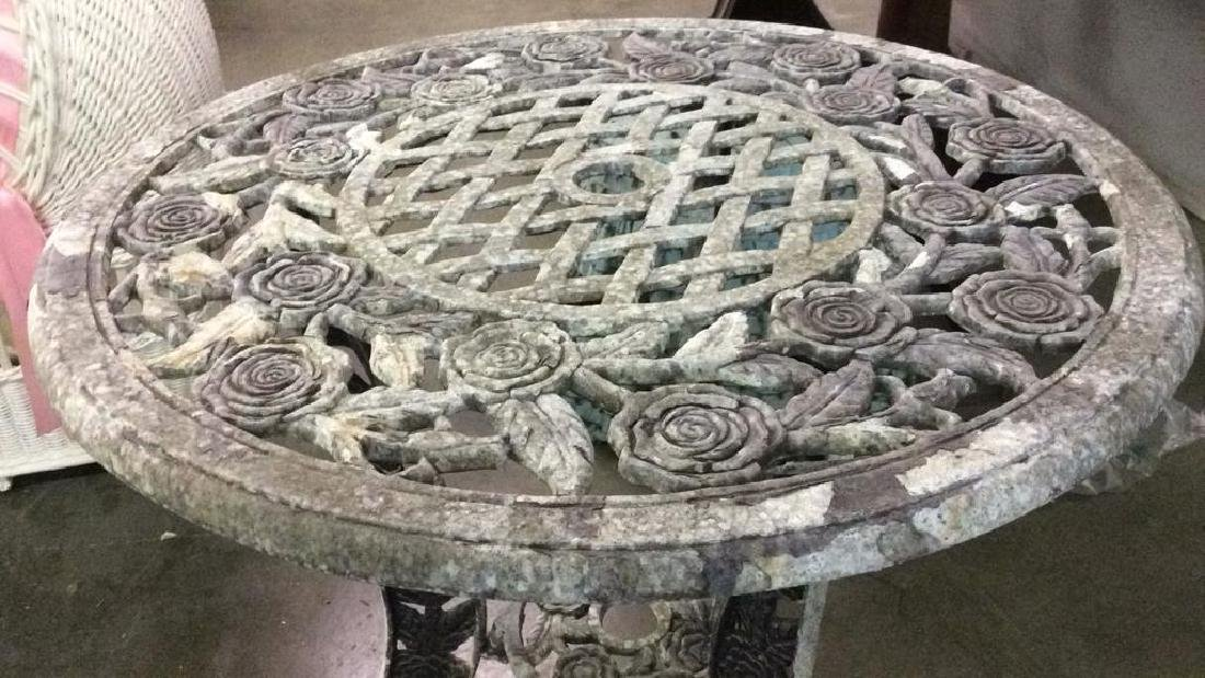 Lot 3 Vintage Metal Iron Patio Furniture - 6