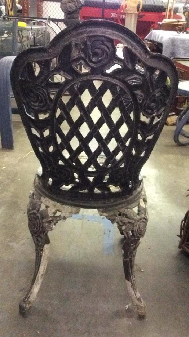 Lot 3 Vintage Metal Iron Patio Furniture - 8