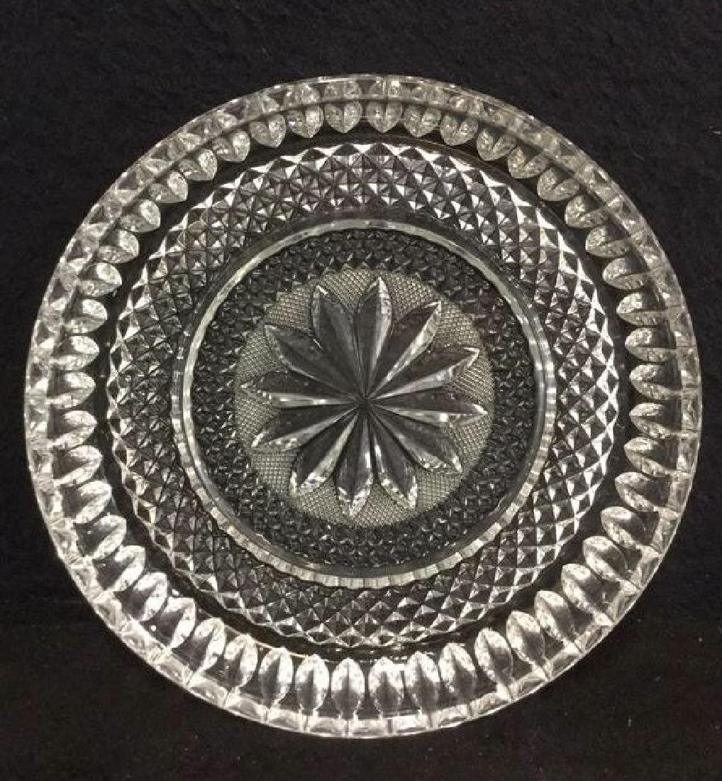 Lot 16 Vintage Set Of Cut Glass Bowls And Plates - 2