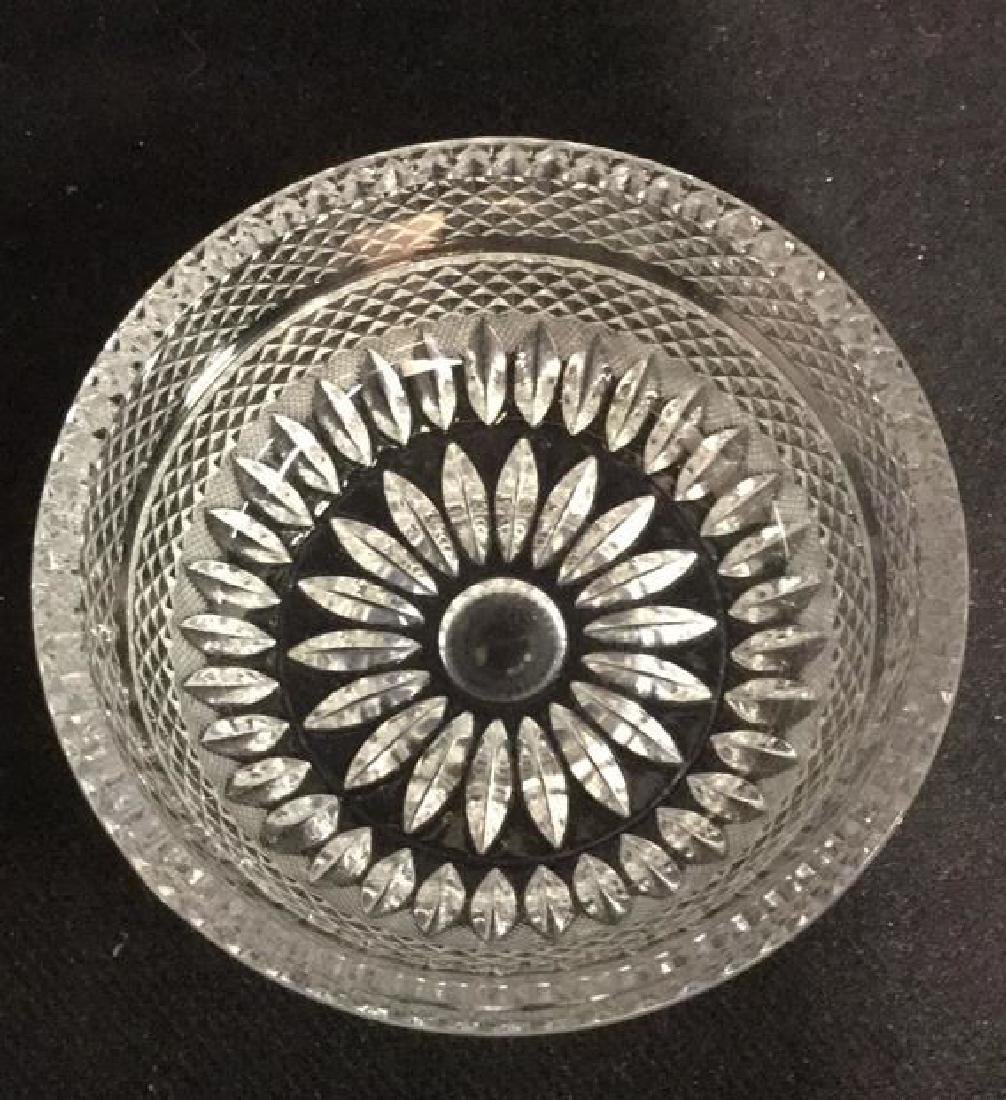 Lot 16 Vintage Set Of Cut Glass Bowls And Plates - 3