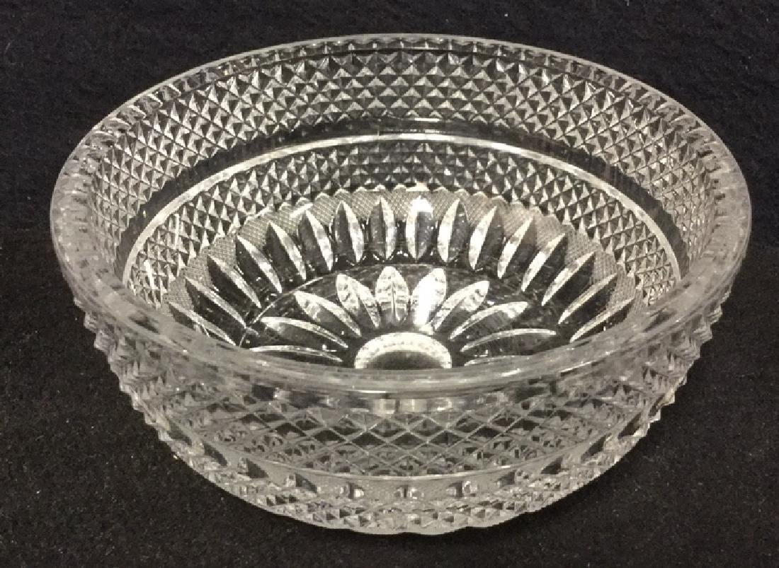 Lot 16 Vintage Set Of Cut Glass Bowls And Plates - 4