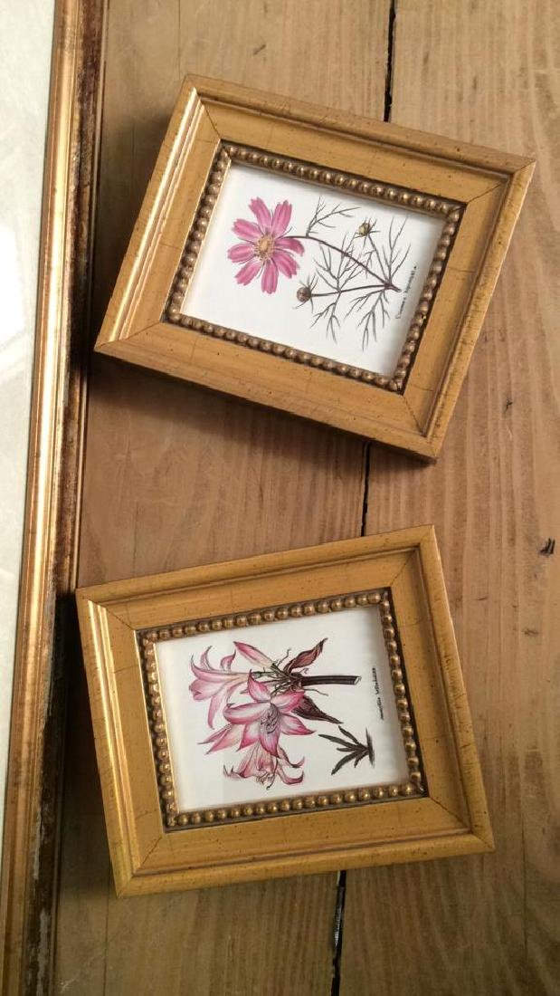 Lot 3 Framed Matted Decorative Floral Art Prints - 2