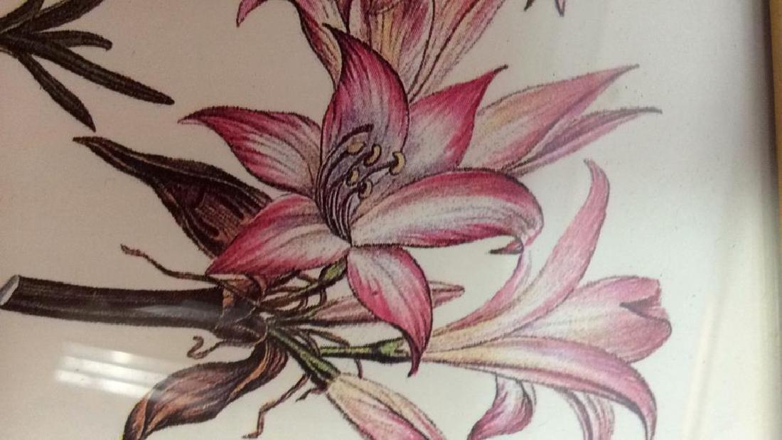 Lot 3 Framed Matted Decorative Floral Art Prints - 7