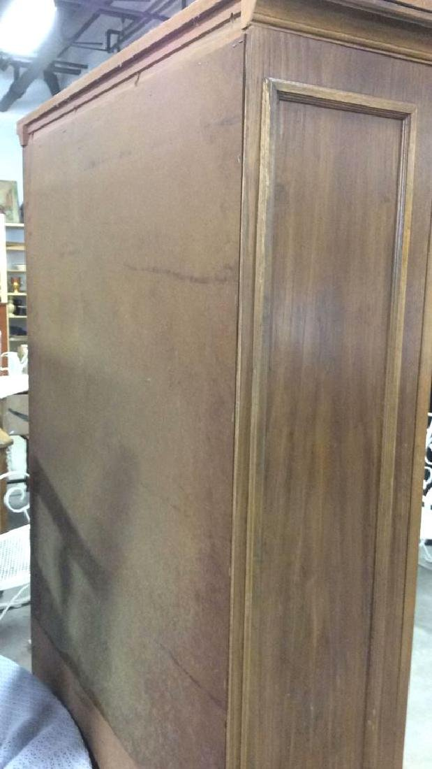 Intricately Carved Wooden China Cabinet - 10