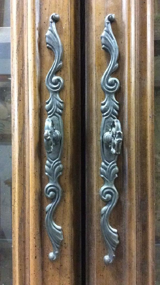 Intricately Carved Wooden China Cabinet - 4