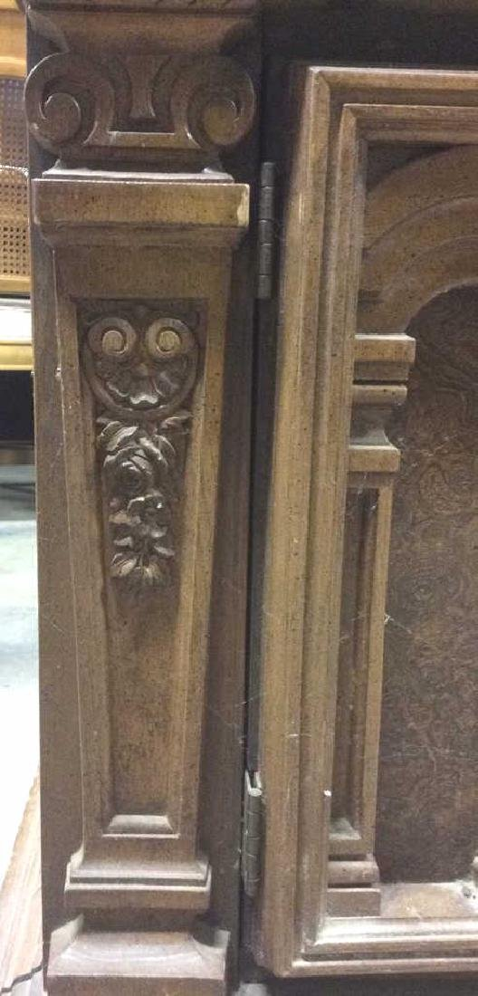 Intricately Carved Wooden China Cabinet - 6