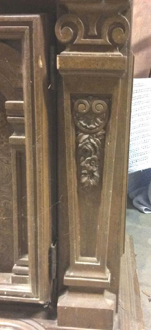 Intricately Carved Wooden China Cabinet - 7